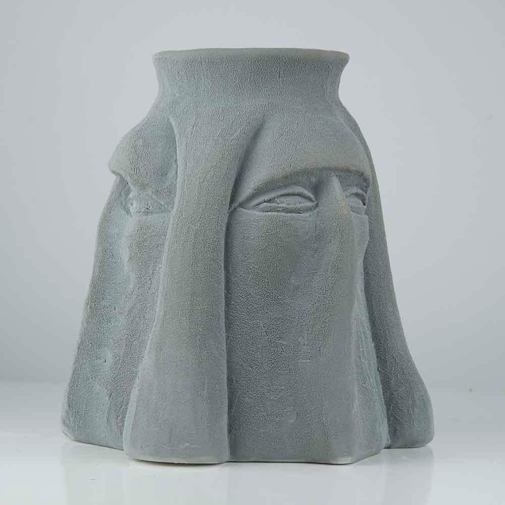 'Three Facet Vase', 25 x 22cm, ceramic/ glaze, 2019