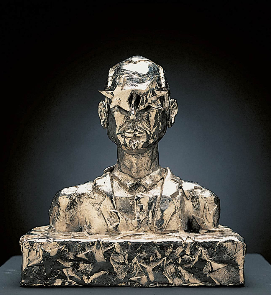 'Aprés DaDa', 23cm x 20cm x 13cm, bronze/ nickel, 1994