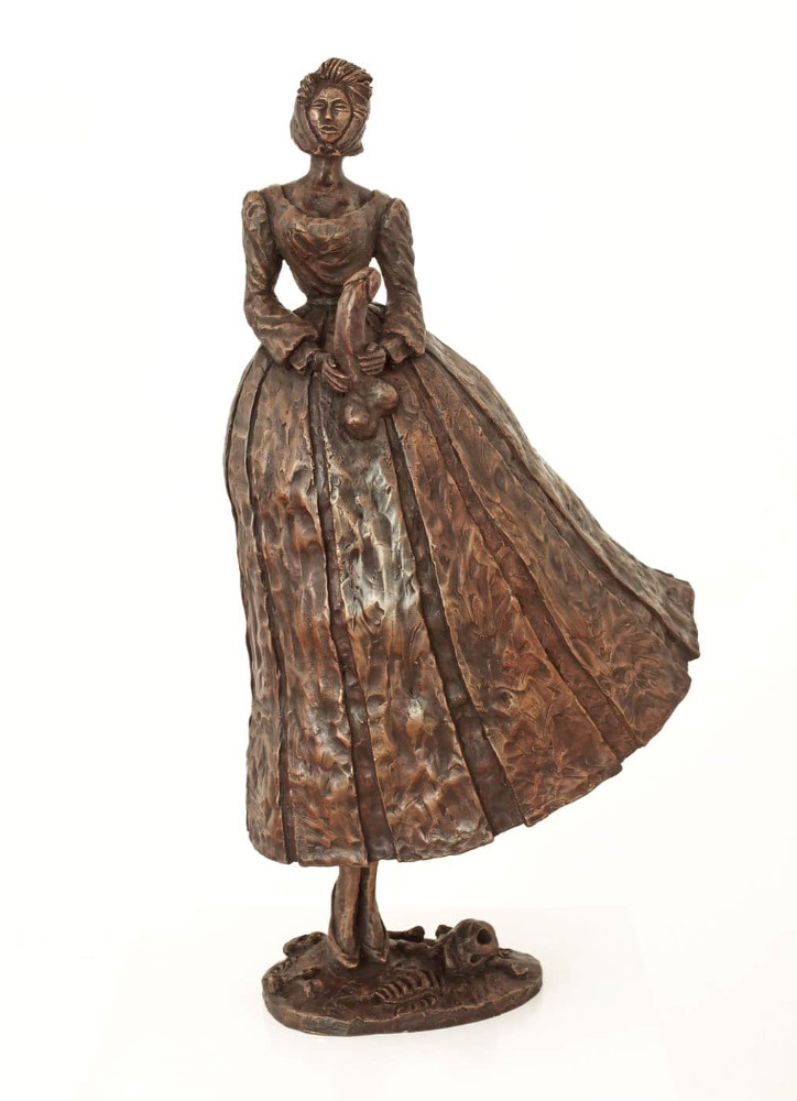 'Death and the maiden', bronze, height 70cm, 2010