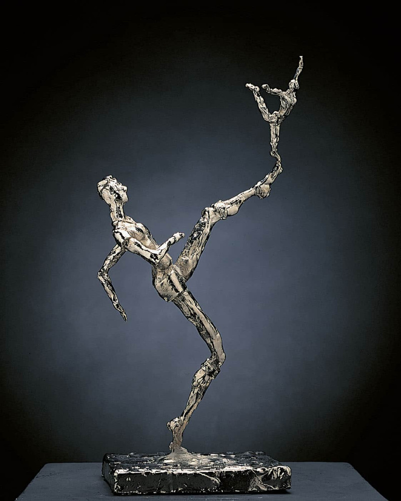 'Fuck it, its just a Statuette', bronze/ nickel, 37cm x 14cm x 11cm, 1994
