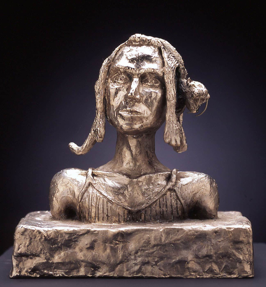 'Jan', 23cm x 20cm x 13cm, bronze/ nickel, 1995