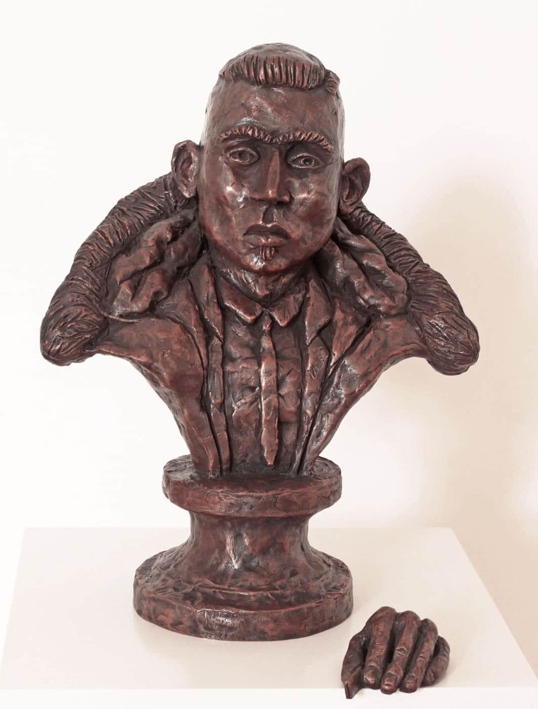 'Khaled, the Postman', height 35cm, bronze, 2010