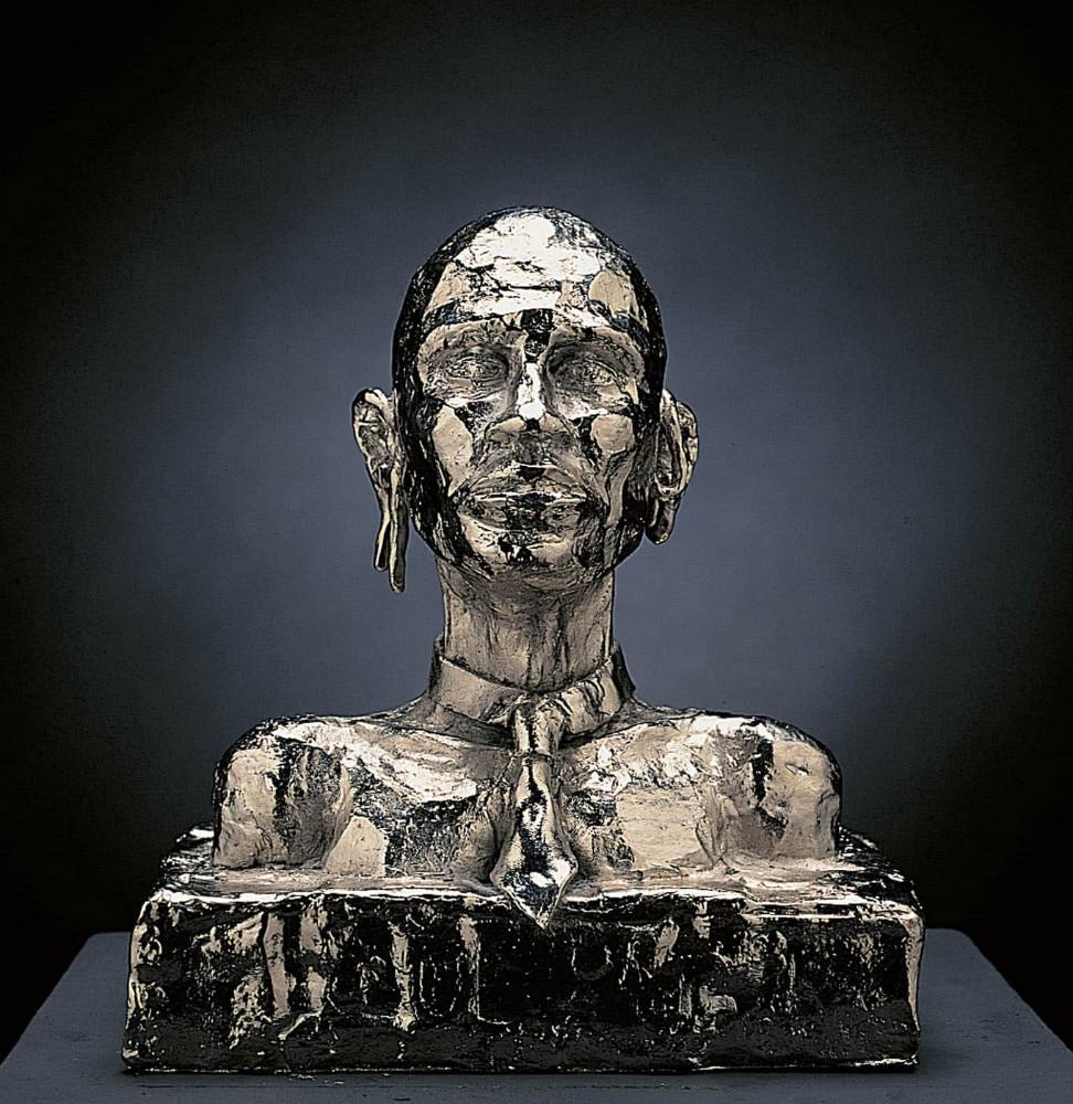 'L'Oreille Cassée', 23cm x 20cm x 13cm, bronze/ nickel, 1994