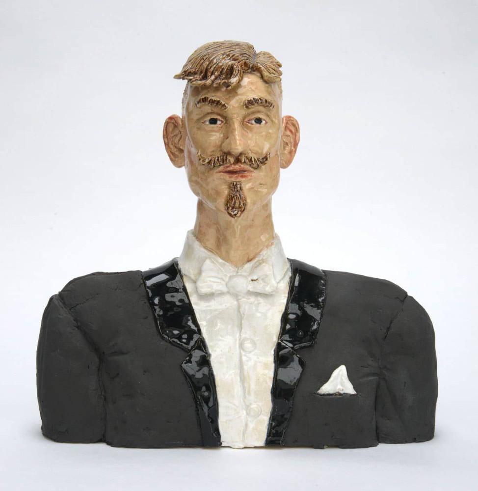 'Bust', 36cm x 36cm x 18cm, glazed ceramic, 2015