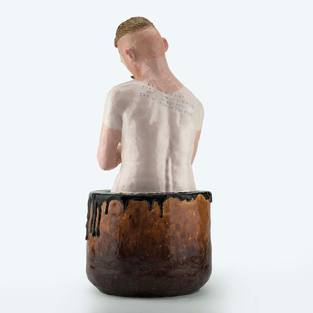 'IDIOT In BATH', 78cm x 36cm x 36cm, ceramic, 2018