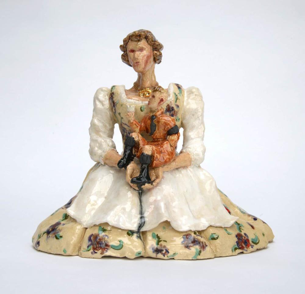 'Madonna Edelweiss', 36cm x 36cm x 22cm, glazed ceramic, 2015
