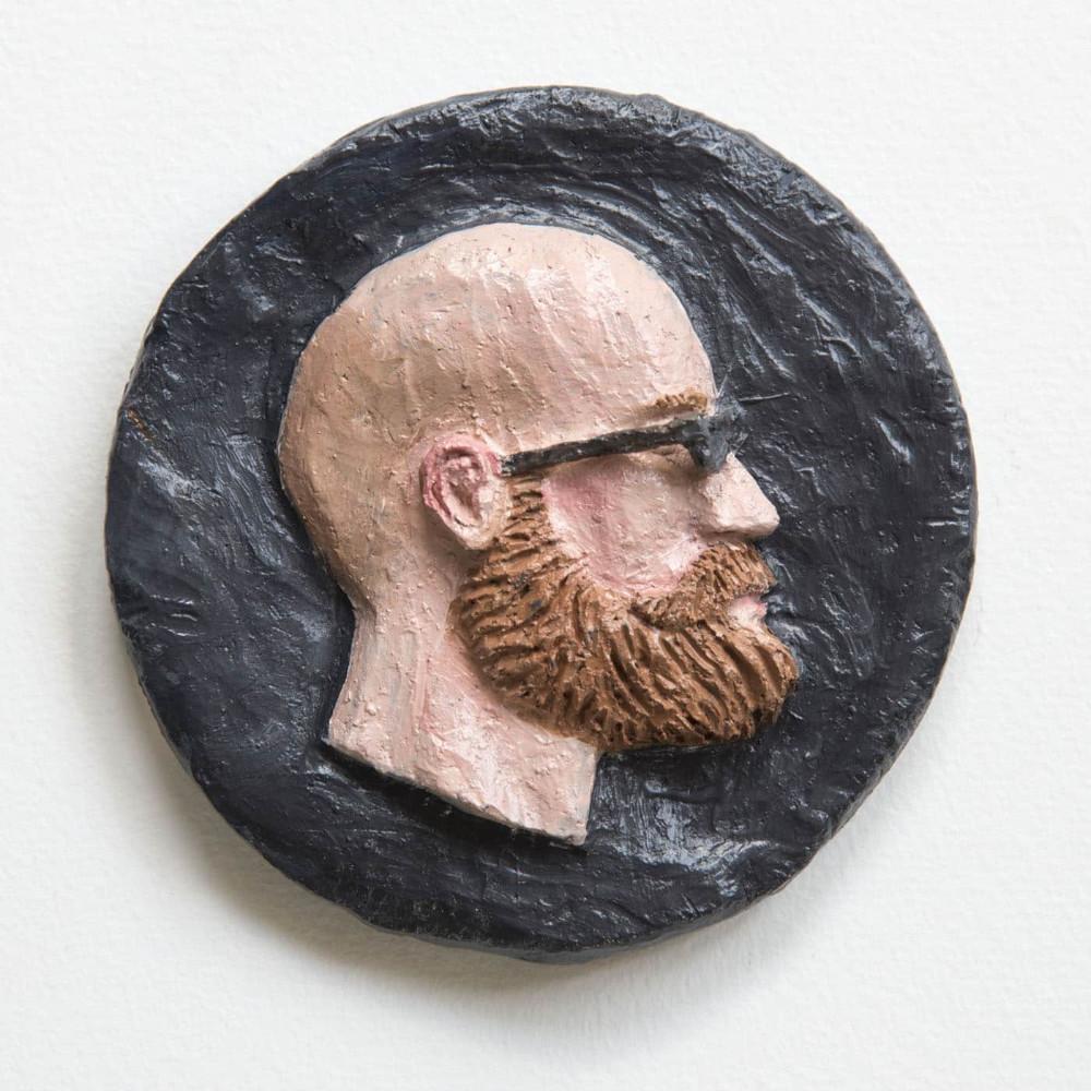 'Darren', 13cm, ceramic/oilpaint, 2017