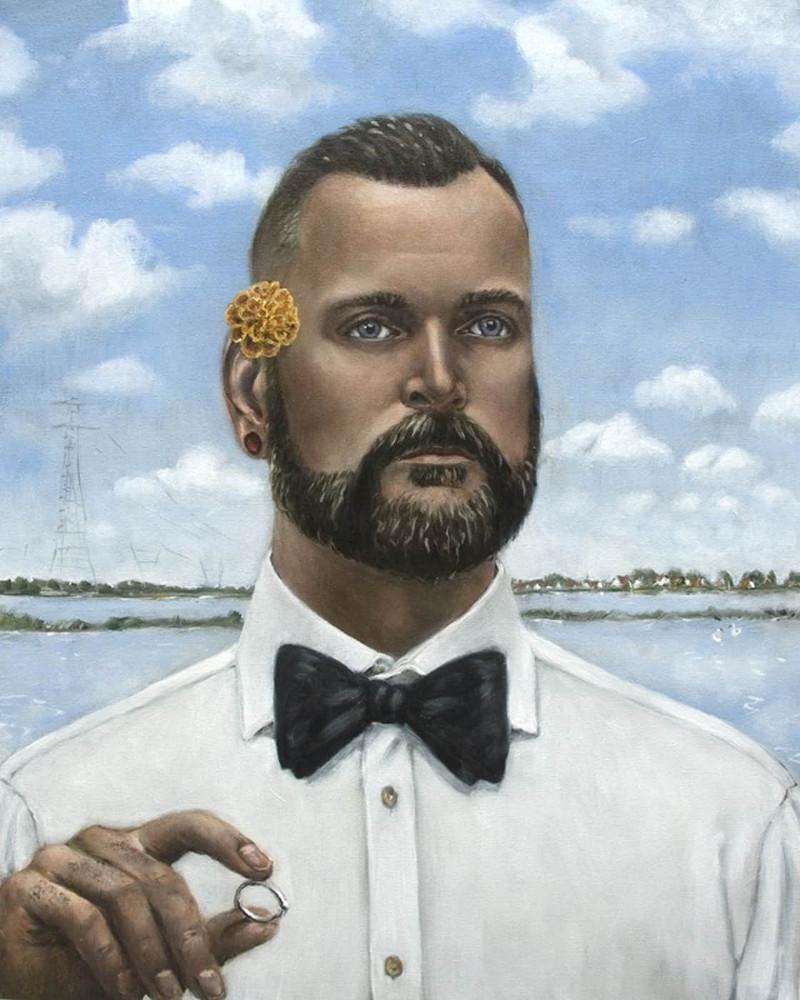 'Arno Ouwejan Carlten Houwing', 65cm x 52cm, oil/linen, 2012