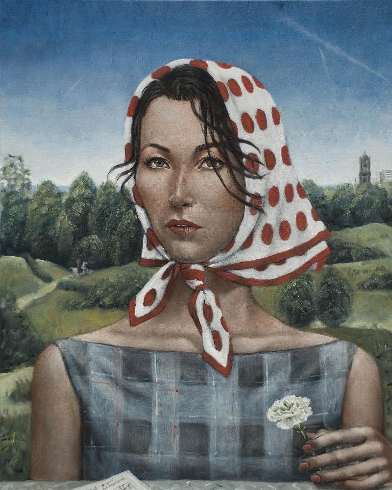 'Birgit', 65cm x 52cm, oil/linen, 2013