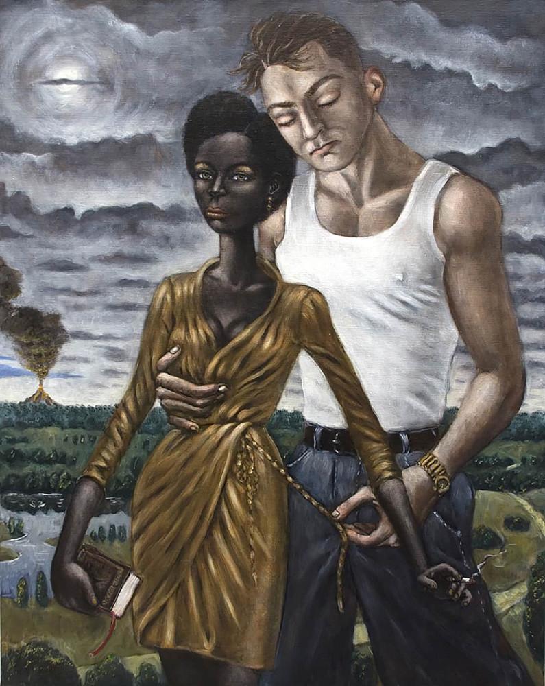 'Lilith and Adam',100cm x 80cm, oil/linen, 2013