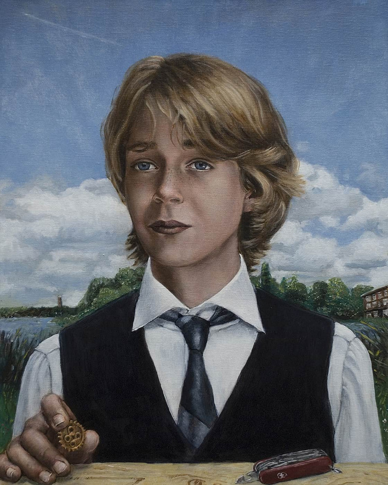 'Matthijs', 65cm x 52cm, oil/linen, 2013