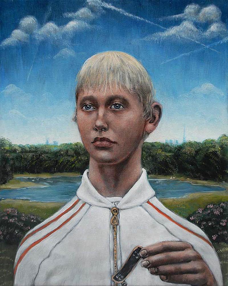 'Portrait of a Young Man', 50cm x 40cm, oil/linen, 2010
