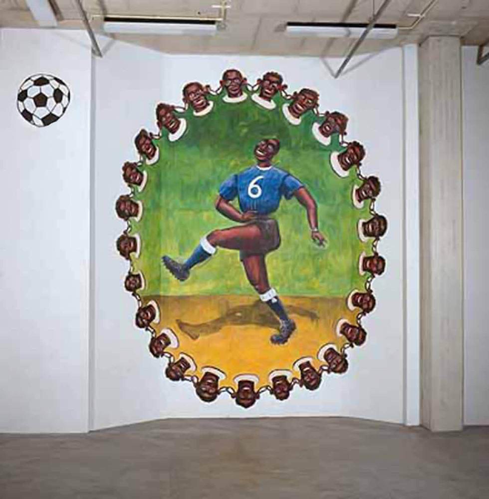 Temporary mural, approx. 500cm x 500cm, acrylic, Hooghuis, Arnhem,1994
