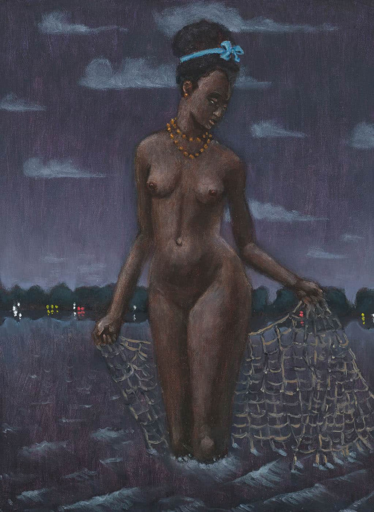 'Black Pearl at the New Lake', 40cm x 30cm, oil/linen, 2009