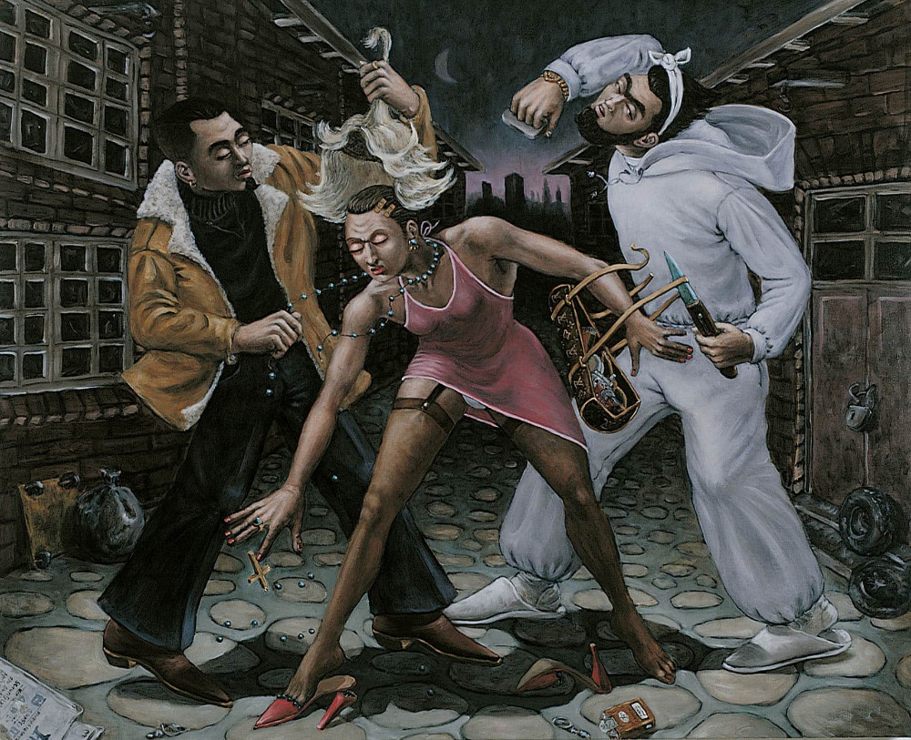 'Decoronation, an Allegory on Violence', 130cm x 160cm, oil/linen, 2003