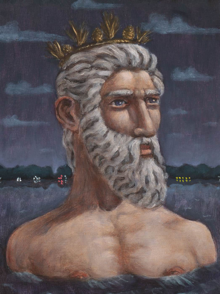 'Neptune at the New Lake', 40cm x 30cm, oil/linen, 2009