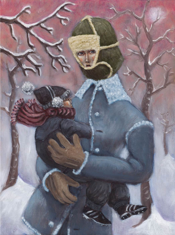 'Small Winter Madonna', 40cm x 30cm,  oil/linen, 2004