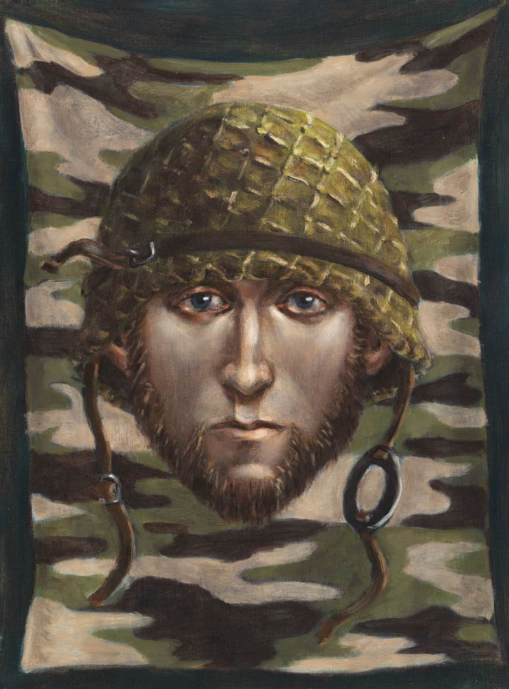 'Soldier Sorrow', 40cm x 30cm,  oil/linen, 2004