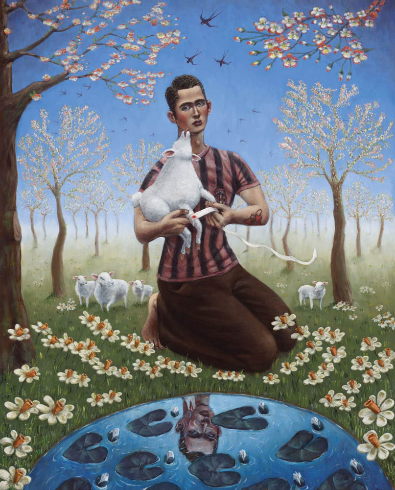 'Visit the Sick', 200cm x 150cm, oil/linen, 2008