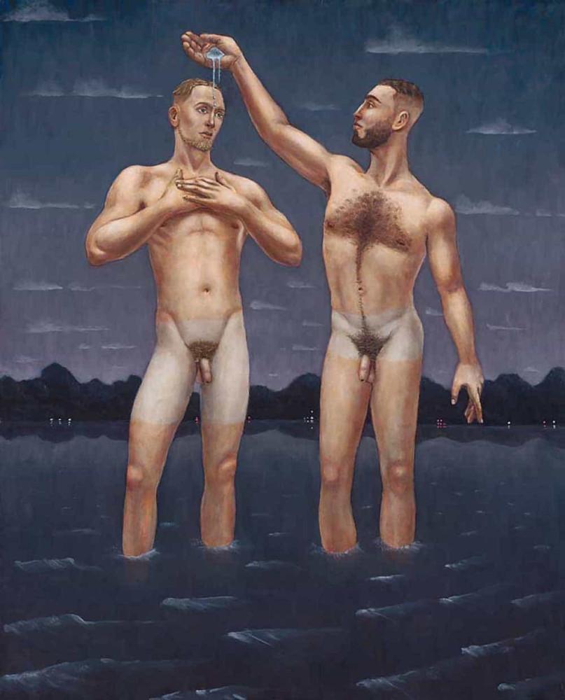'Clothe the Naked', 200cm x 150cm, oil/linen, 2009