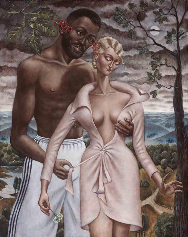 'Adam & Eve IV', oil/linen, 250cm x 200cm, 2012