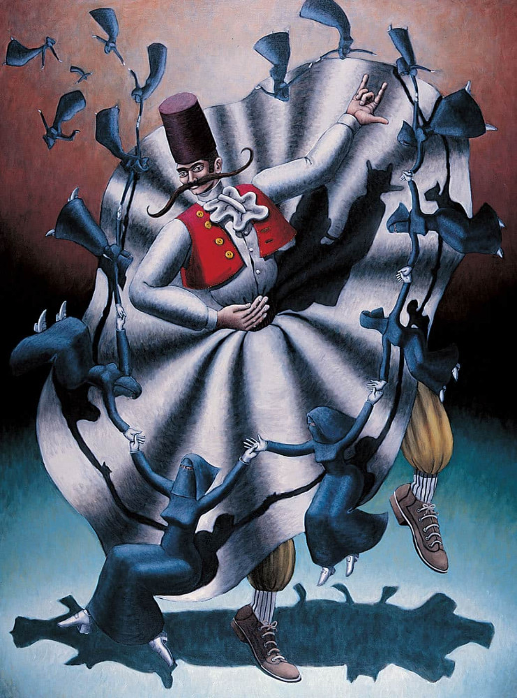 'Giant Stride', 240cm x 180cm, oil/linen, 1995
