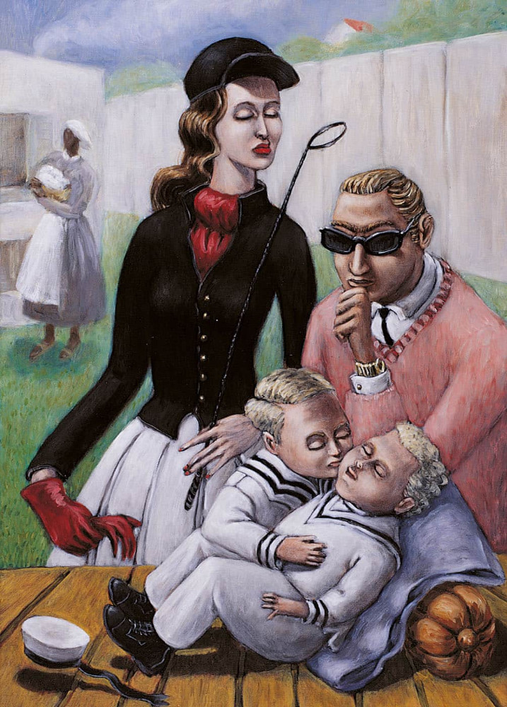 'Holy Family' (after Bronzino), 70cm x 50cm, oil/linen, 2001