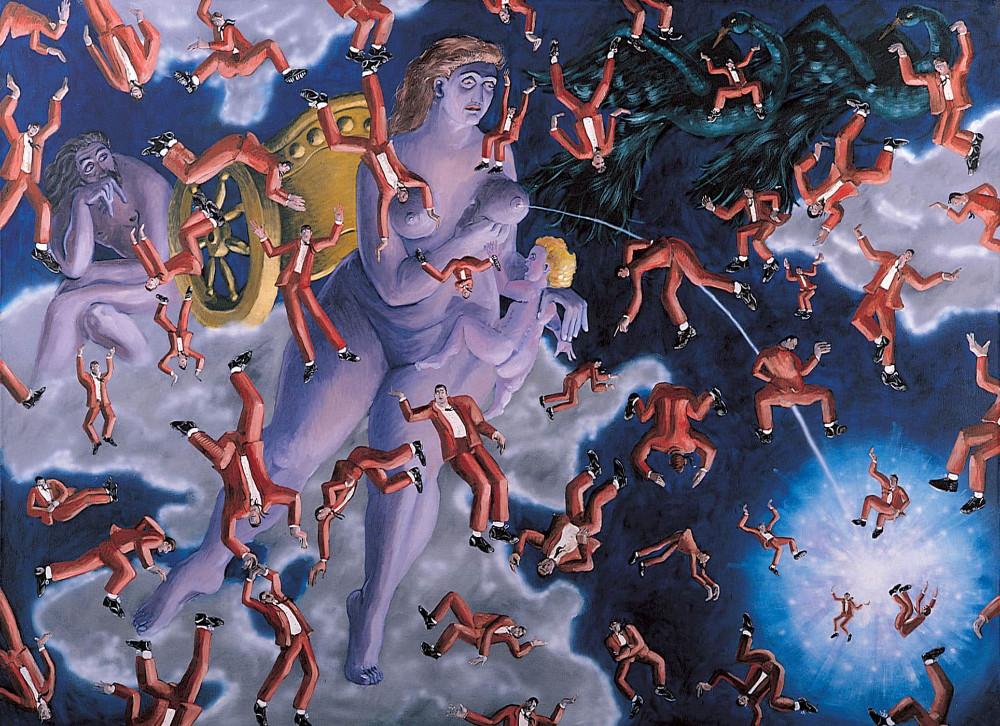 'The Creation of the Milky Way' (after Rubens), 200cm x 270cm, oil/linen,1988