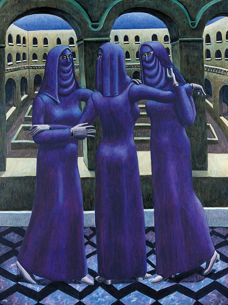 'Three Graces', 200cm x 150cm, oil/linen, 1994