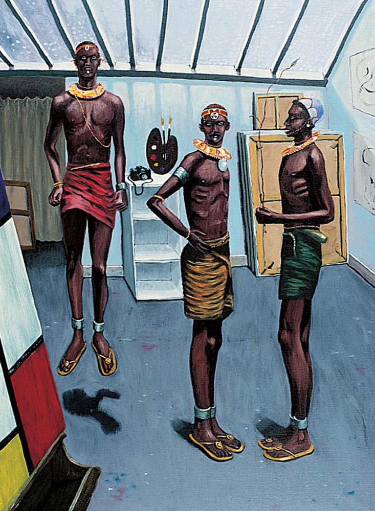 'Visitors',110cm x 80cm, oil/linen, 1992