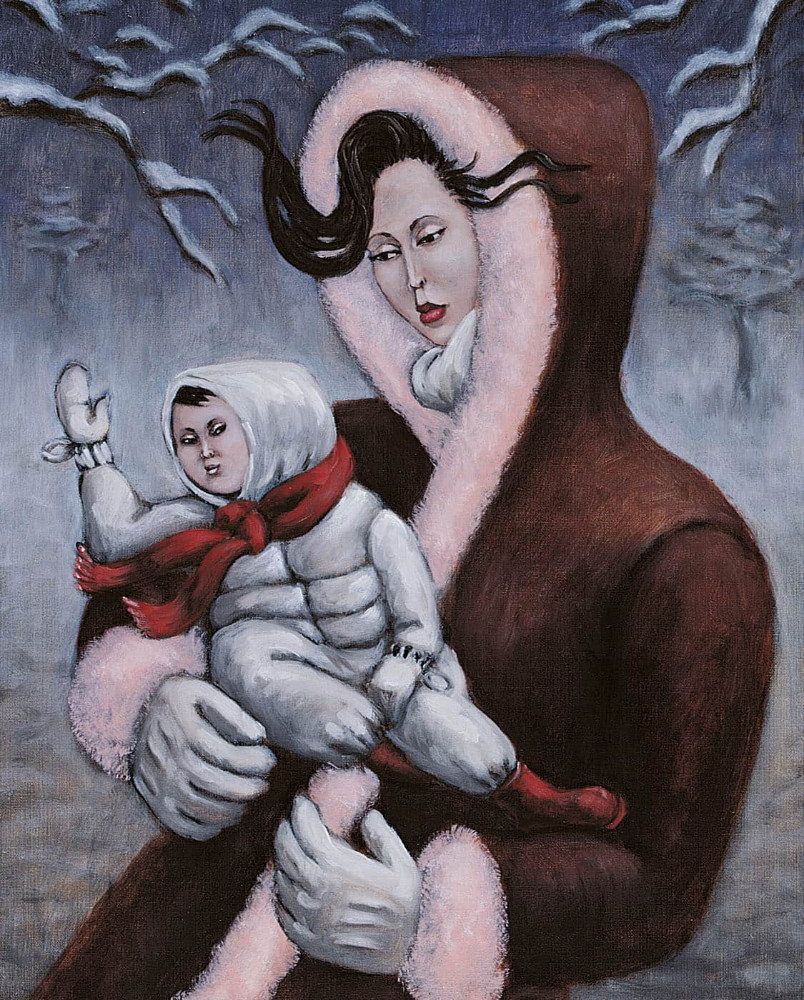 'Winter Madonna', 50cm x 40cm, oil/linen, 2001