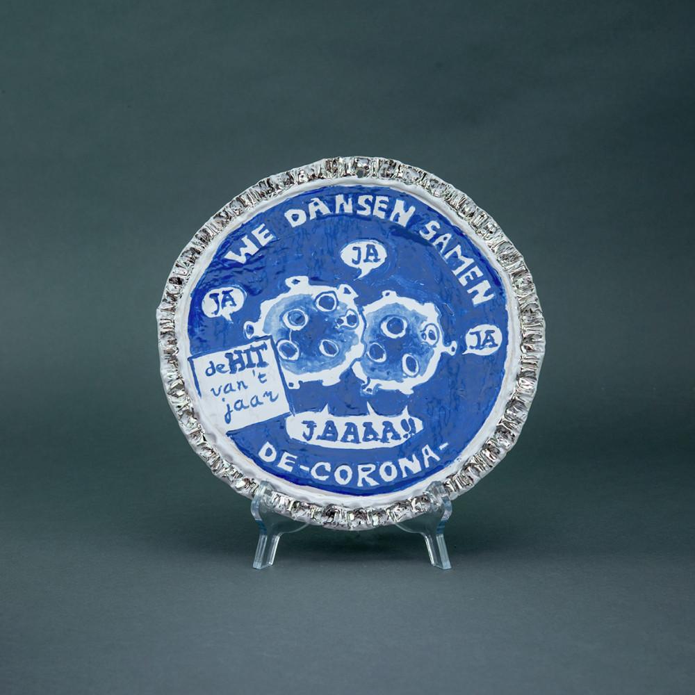 'De Hit van het Jaar', Ø 26cm, Delfts Blauw, ceramic plate, 2020