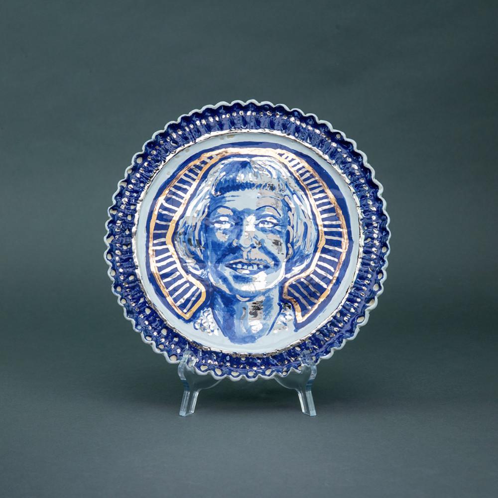 'Grayson Perry', Ø 25cm, ceramic - Delftsblauw, 2020