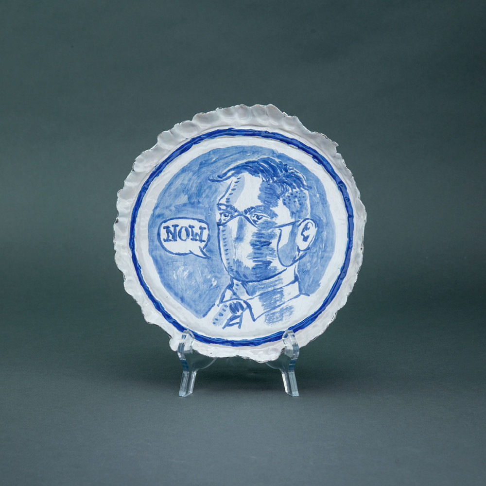 'Now', Ø 22cm, Delfts Blauw, ceramic plate, 2020
