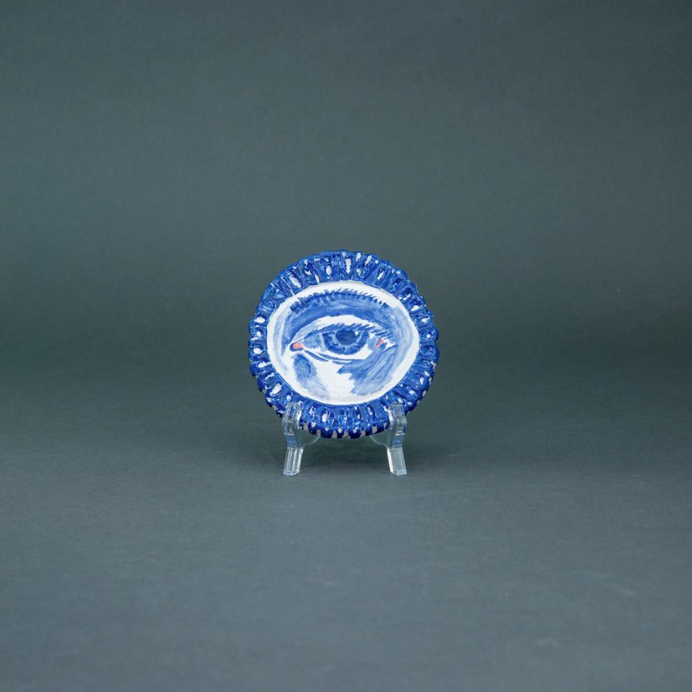 'Eye', Ø 11cm, Delfts Blauw, ceramic plate, 2020